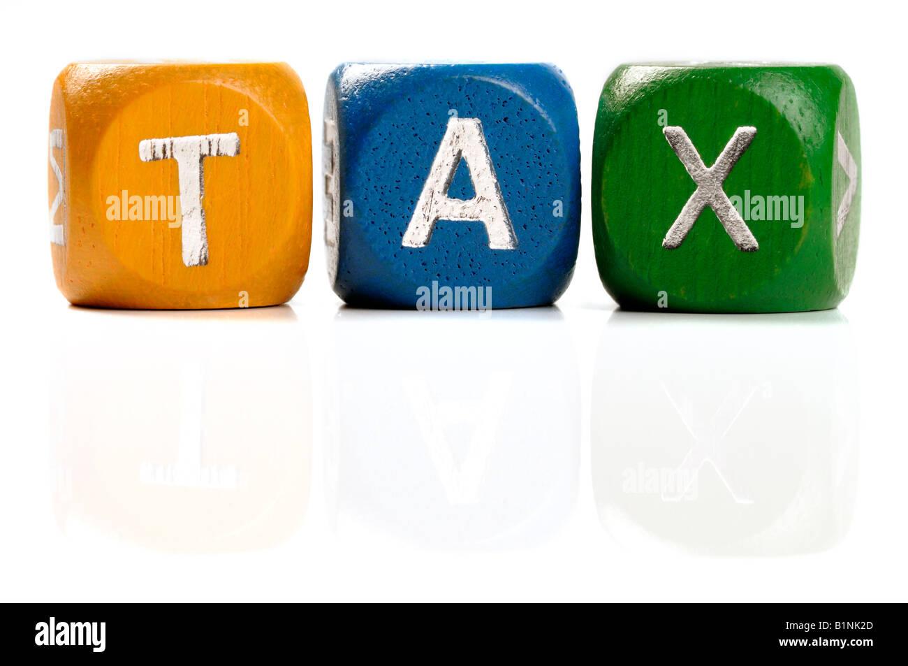 Tax dice concept - Stock Image
