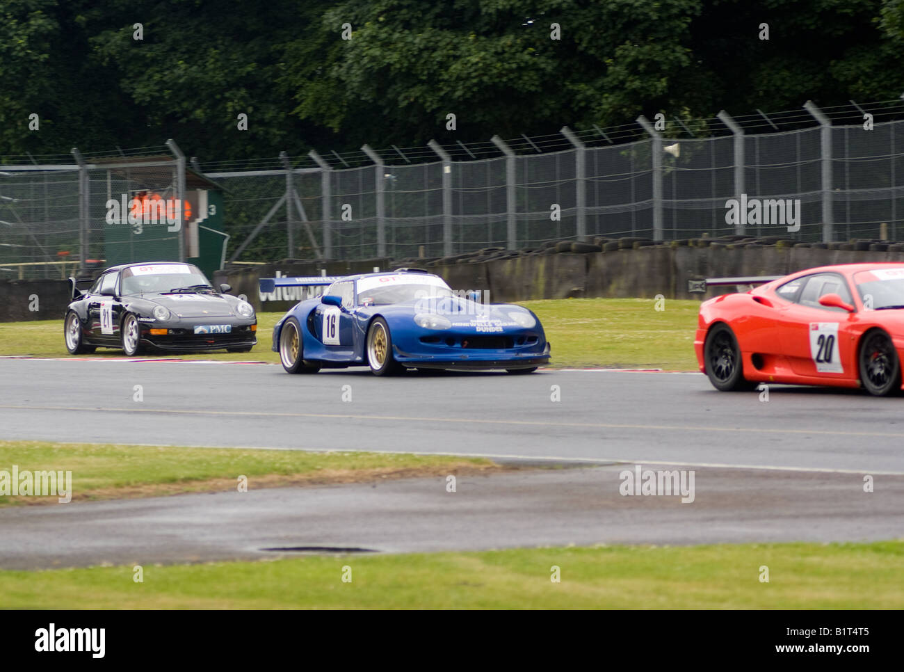 Ferrari 360 Marcos Mantis and Porsche 993 RSR Exiting Old Hall ...