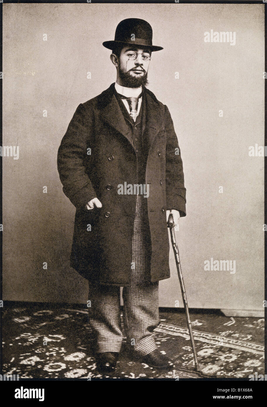 Henri Marie Raymond de Toulouse Lautrec Monfa, 1864 - 1901. French painter, printmaker, draftsman and illustrator.Stock Photo