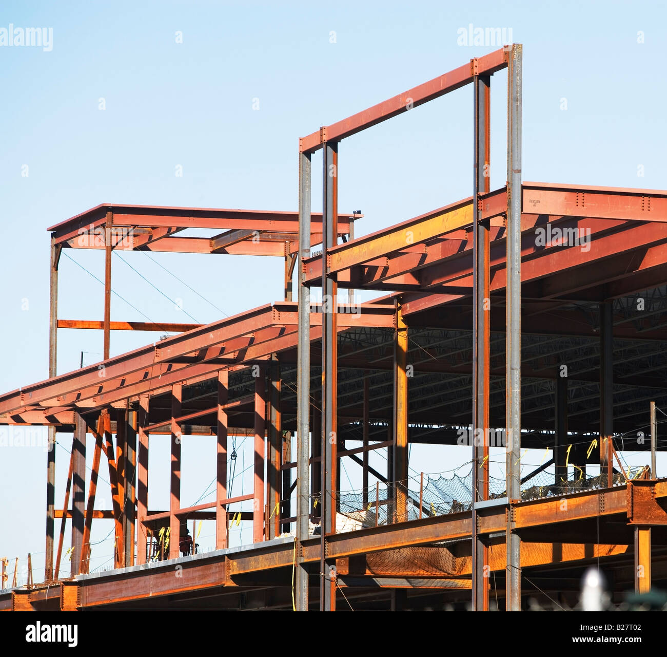 Commercial construction site, New York City, New York, United States - Stock Image