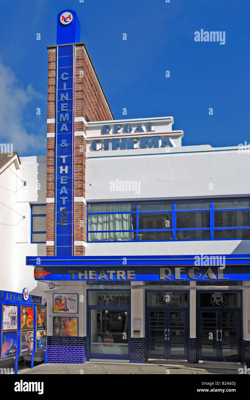 the recently refurbished regal cinema in redruth,cornwall,uk - Stock Image