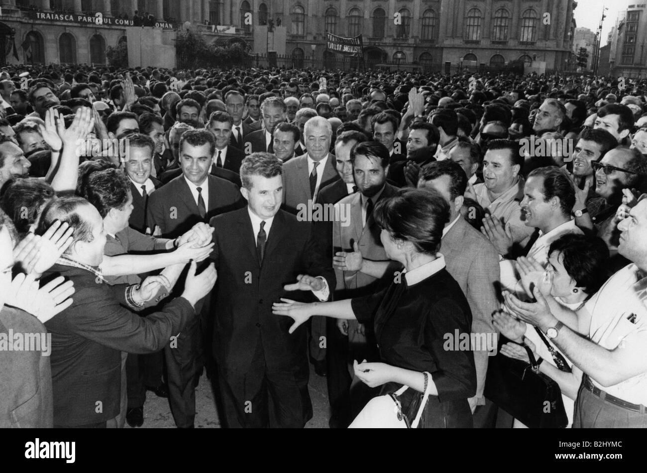 Ceausescu, Nicolae, 26.1.1918 - 25.12.1989, Romanian politician (PCR), President 22.3.1965 - 22.12.1989, bath inStock Photo