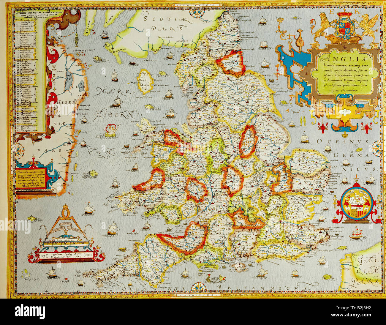 cartography maps Great Britain England during the reign of Queen
