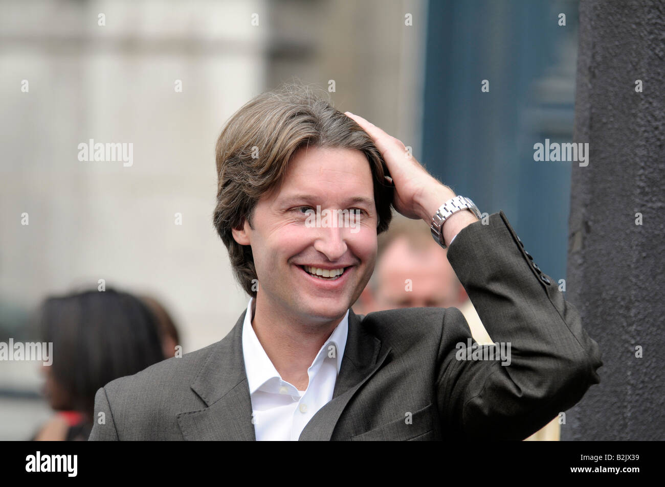 Portrait of Jean-Charles Decaux, chairman and co-CEO of French advertising giant firm JC Decaux. - Stock Image