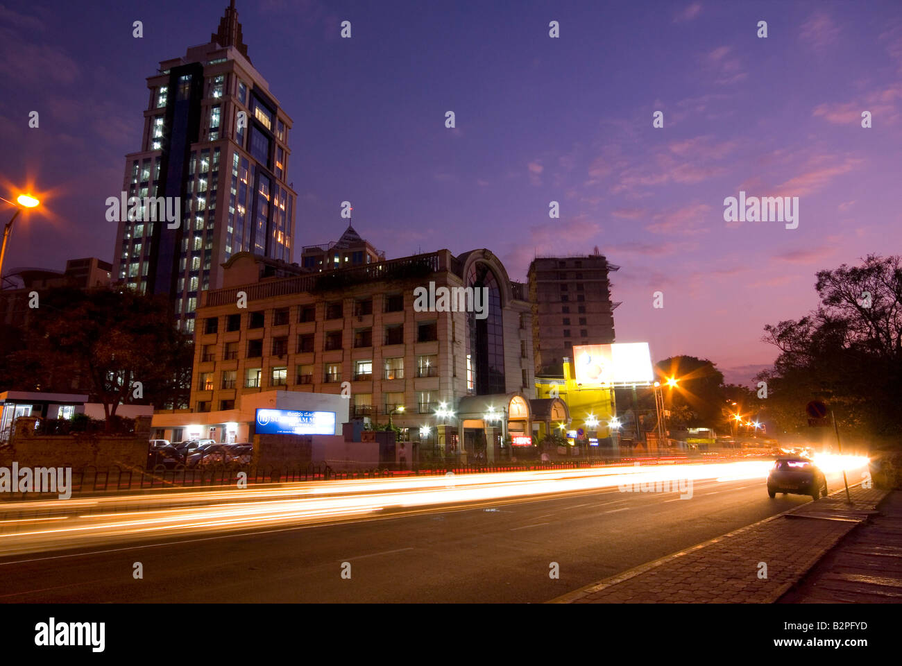 MG Road Area, Shanthala Nagar, Bengaluru (Bangalore), South Karnataka, India - Stock Image