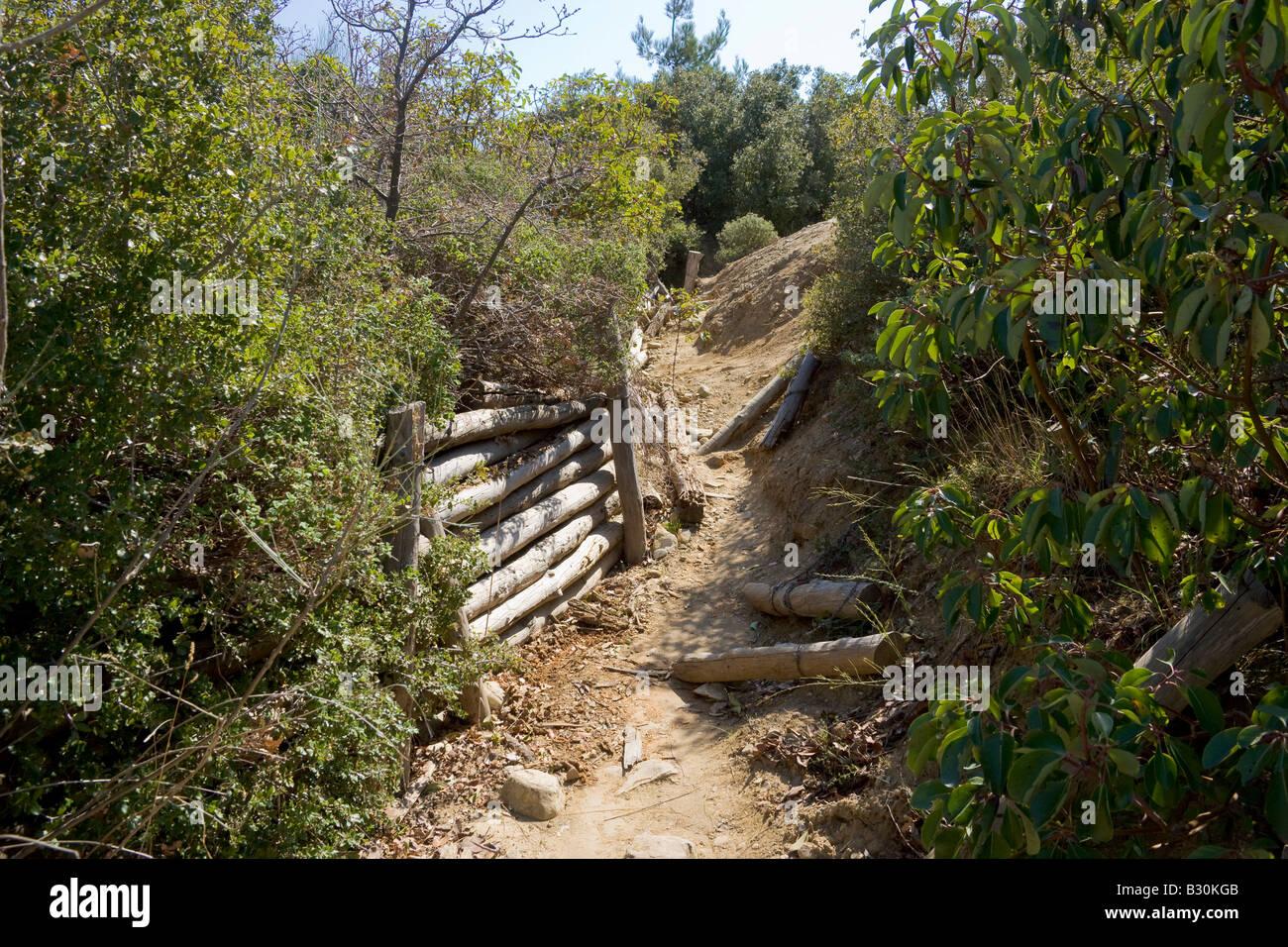 Trenches Gallipoli Canakkale Turkey - Stock Image