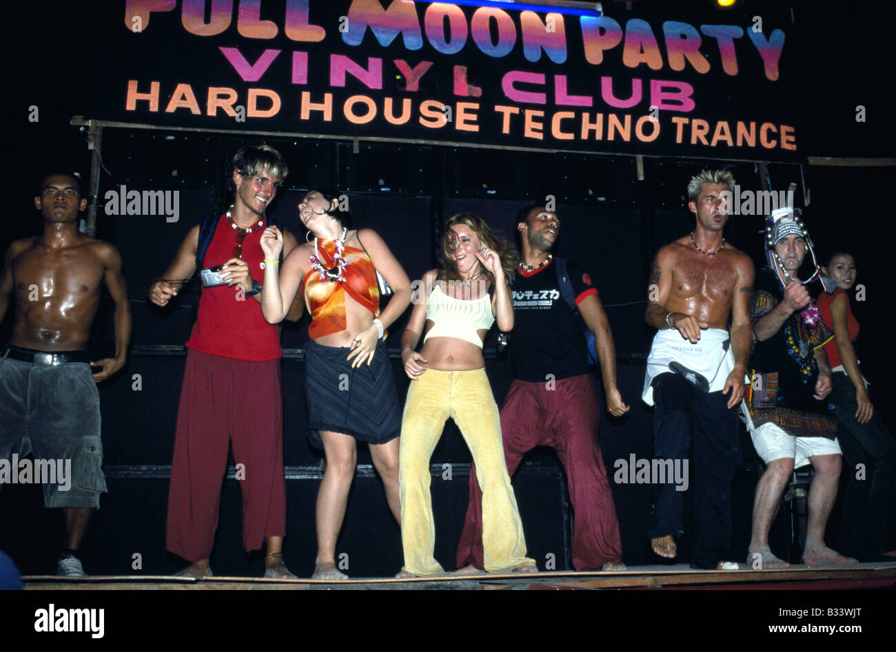 Full Moon Party Ko Pha Ngan Thailand Stock Photo