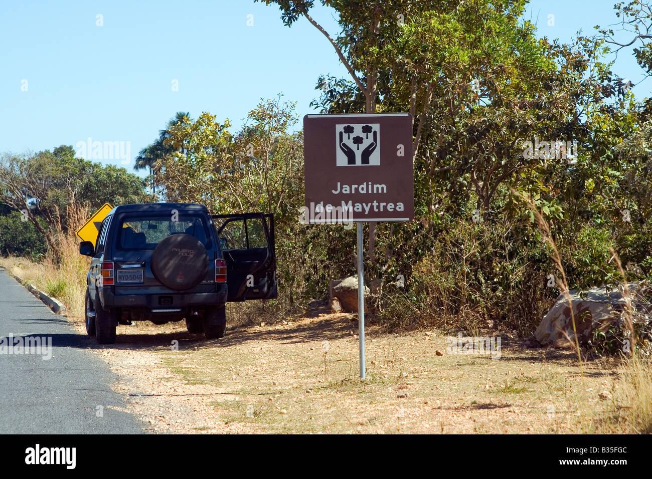 Maytreas Garden Stop, View Point, Chapada dos Veadeiros, Veadeiros Tableland, Goias, Brazil Stock Photo