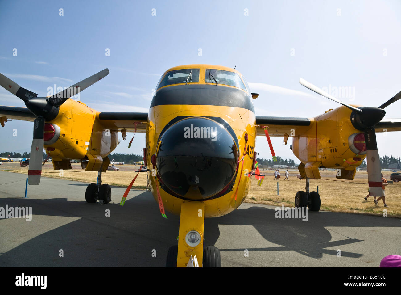 Buffalo DHC5 Search and Rescue plane 2008 Abbotsford Air Show - Stock Image