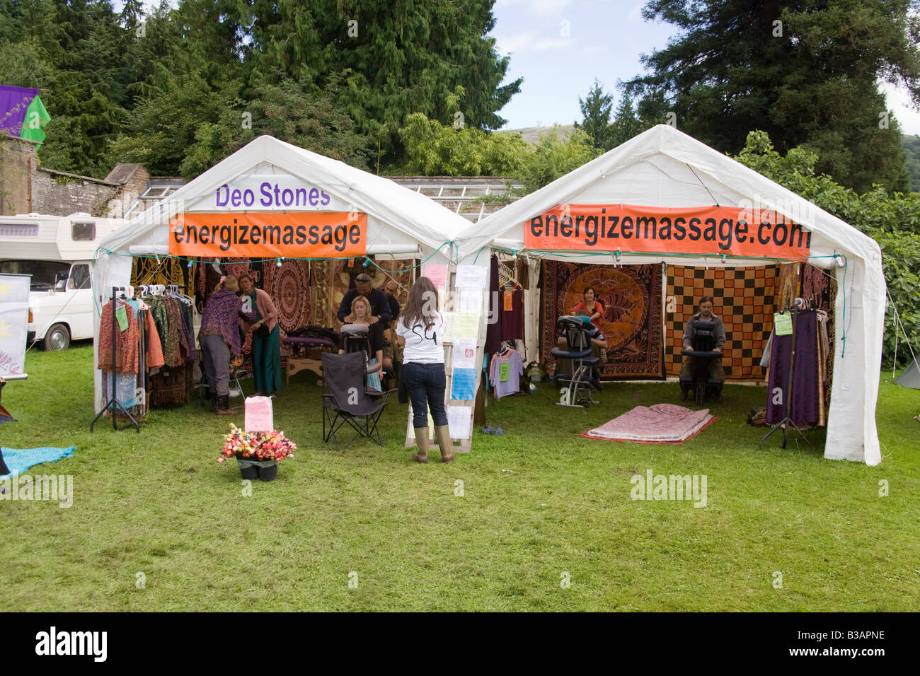 Massage Tent Stock Photos & Massage Tent Stock Images - Alamy