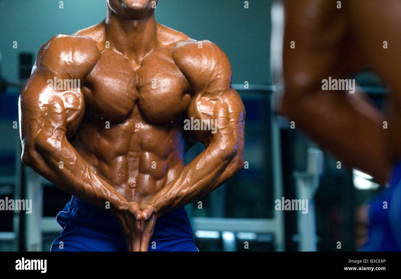 Bodybuilder Muscle Power Strength Arm Bicep Steroid Torso Muscular
