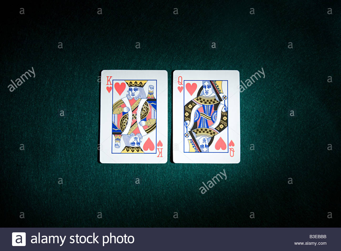 King and queen of hearts - Stock Image