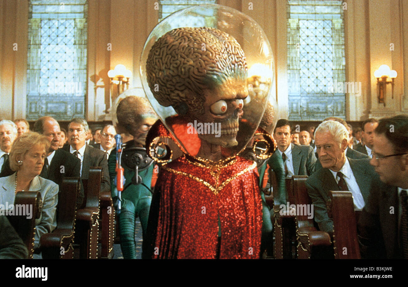 MARS ATTACKS ! 1996 Warner film Stock Photo