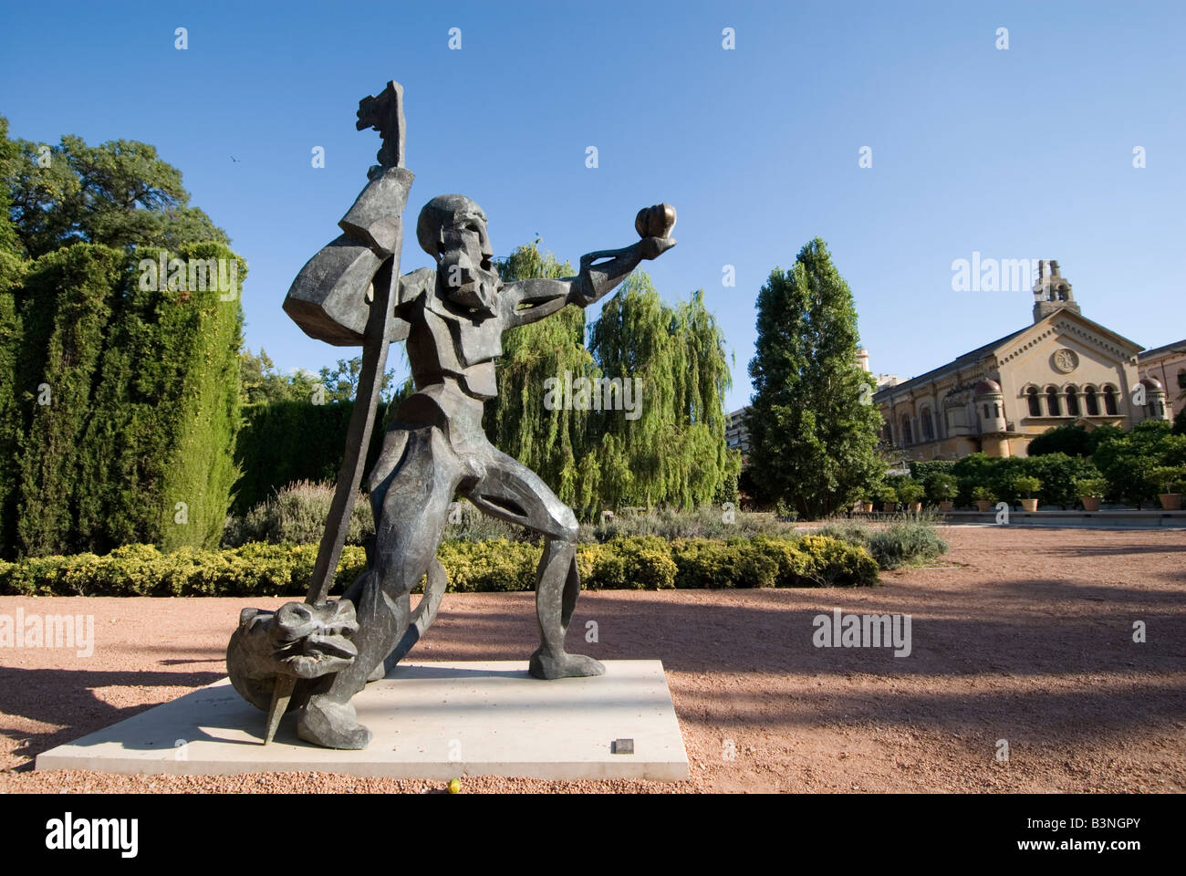 Sculpture in Jardin de las Hesperides park in Valencia Spain - Stock Image