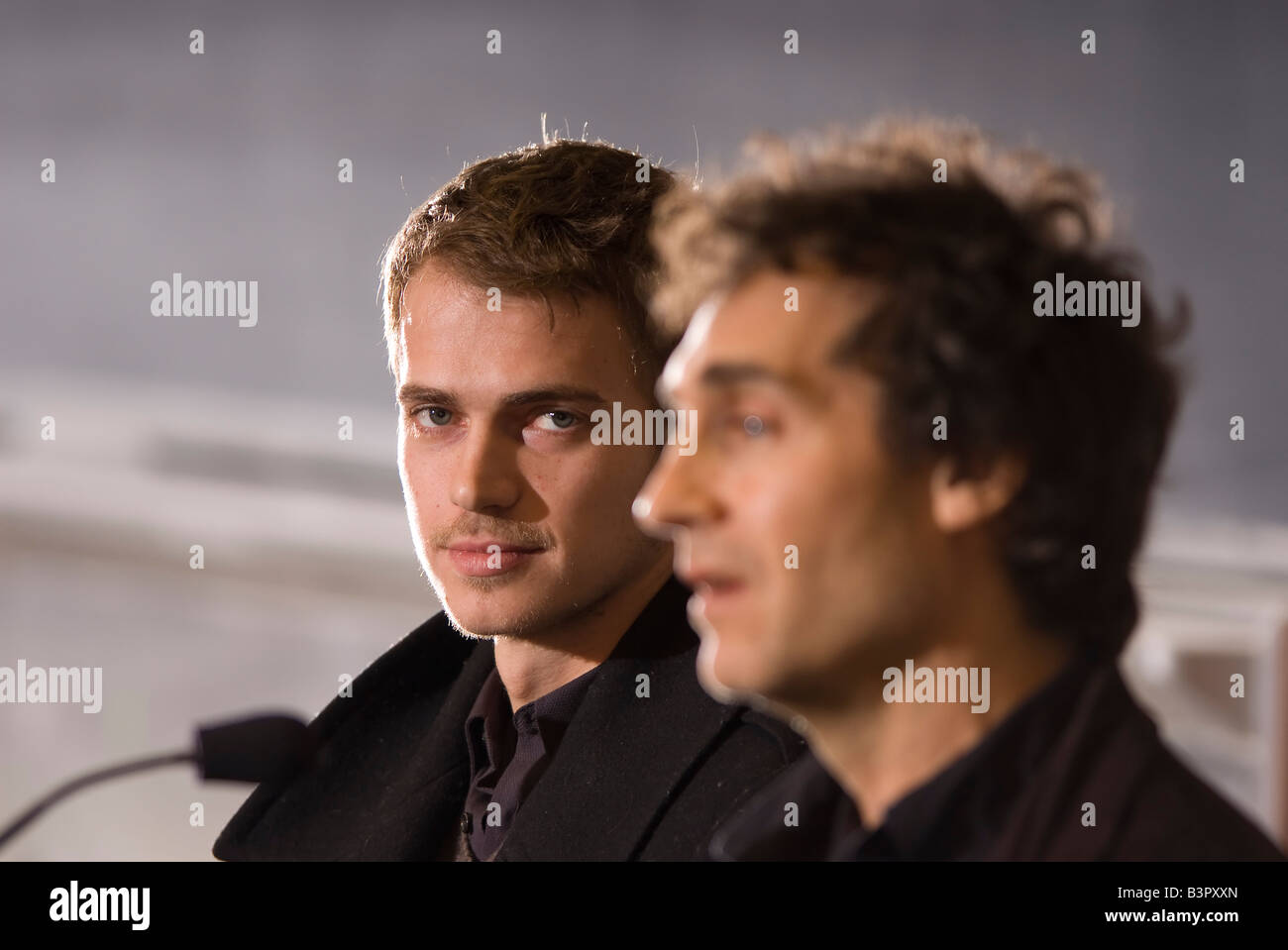 Jumper star Hayden Christiansen participates in a panel discussion at MIT with Jumper director Doug Liman and MIT - Stock Image
