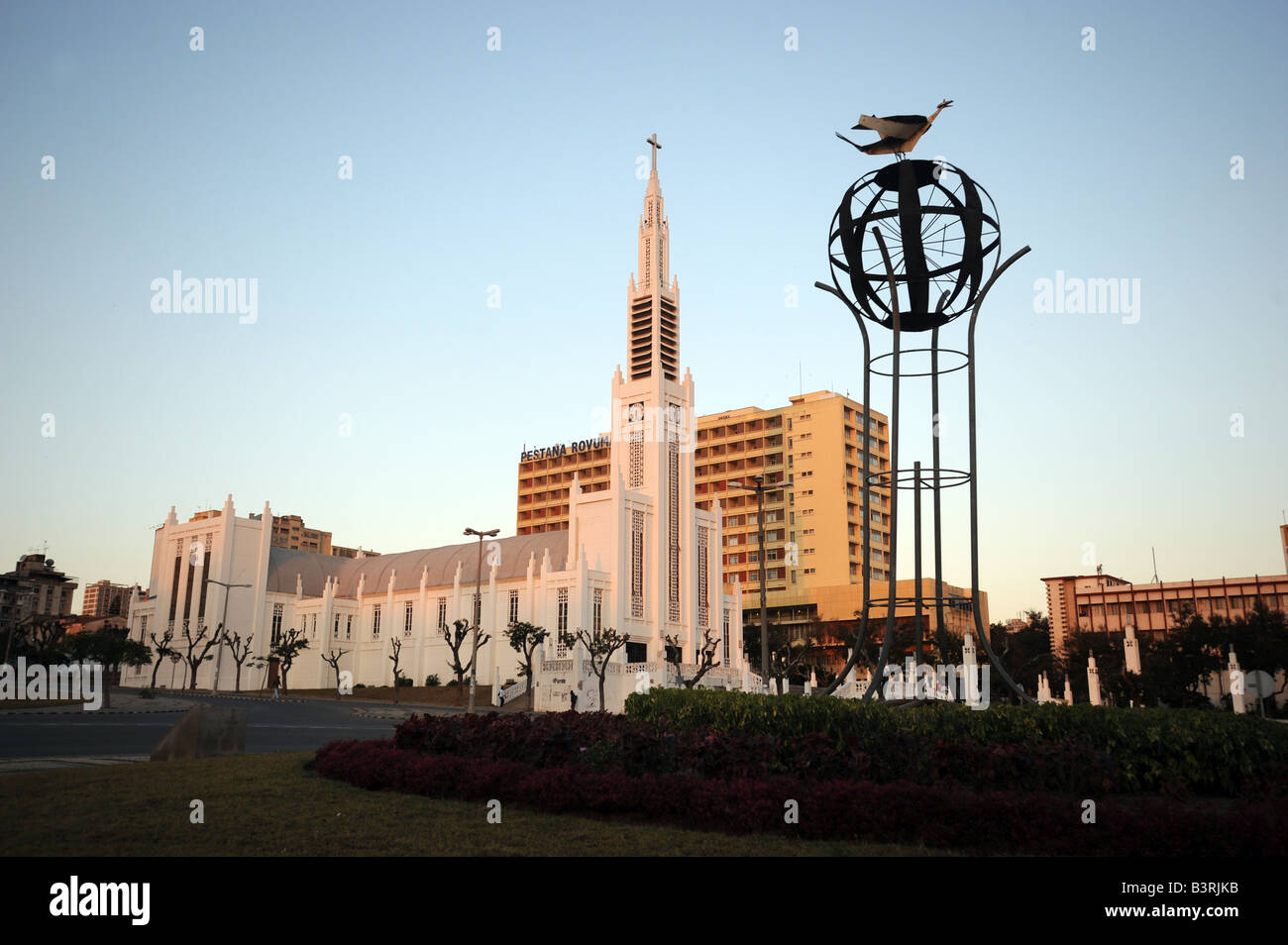 The Catholic cathedral of Nossa Senhora da Conceicao in Maputo, Mozambique. - Stock Image