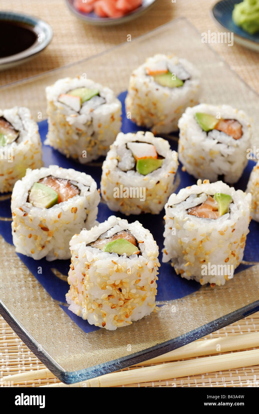 Makis Californian rolls - Stock Image
