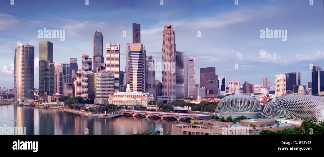 Singapore Skyline viewed at dawn - Stock Image