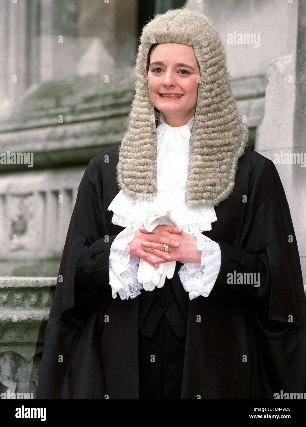 Cherie Blair Cherie Booth wife of Labour Leader Tony Blair after being sworn in as a QC April 1995 Stock Photo