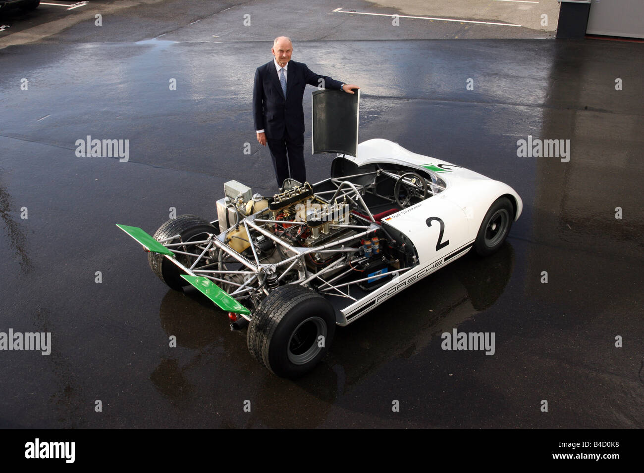 Ferdinand Piech with Porsche Bergspyder 909 from the year 1968 - Stock Image