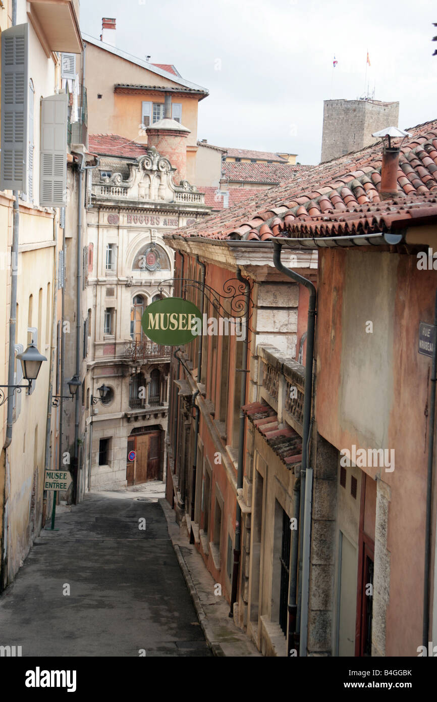 Rue Mirabeau in Grasse Old Town South of France - Stock Image