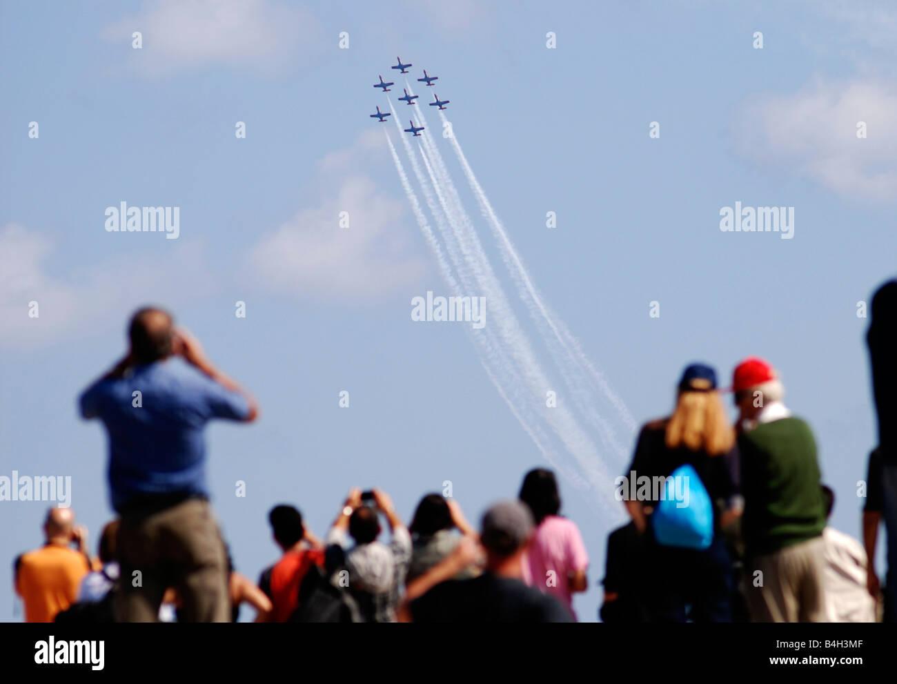 airshow spectators - Stock Image