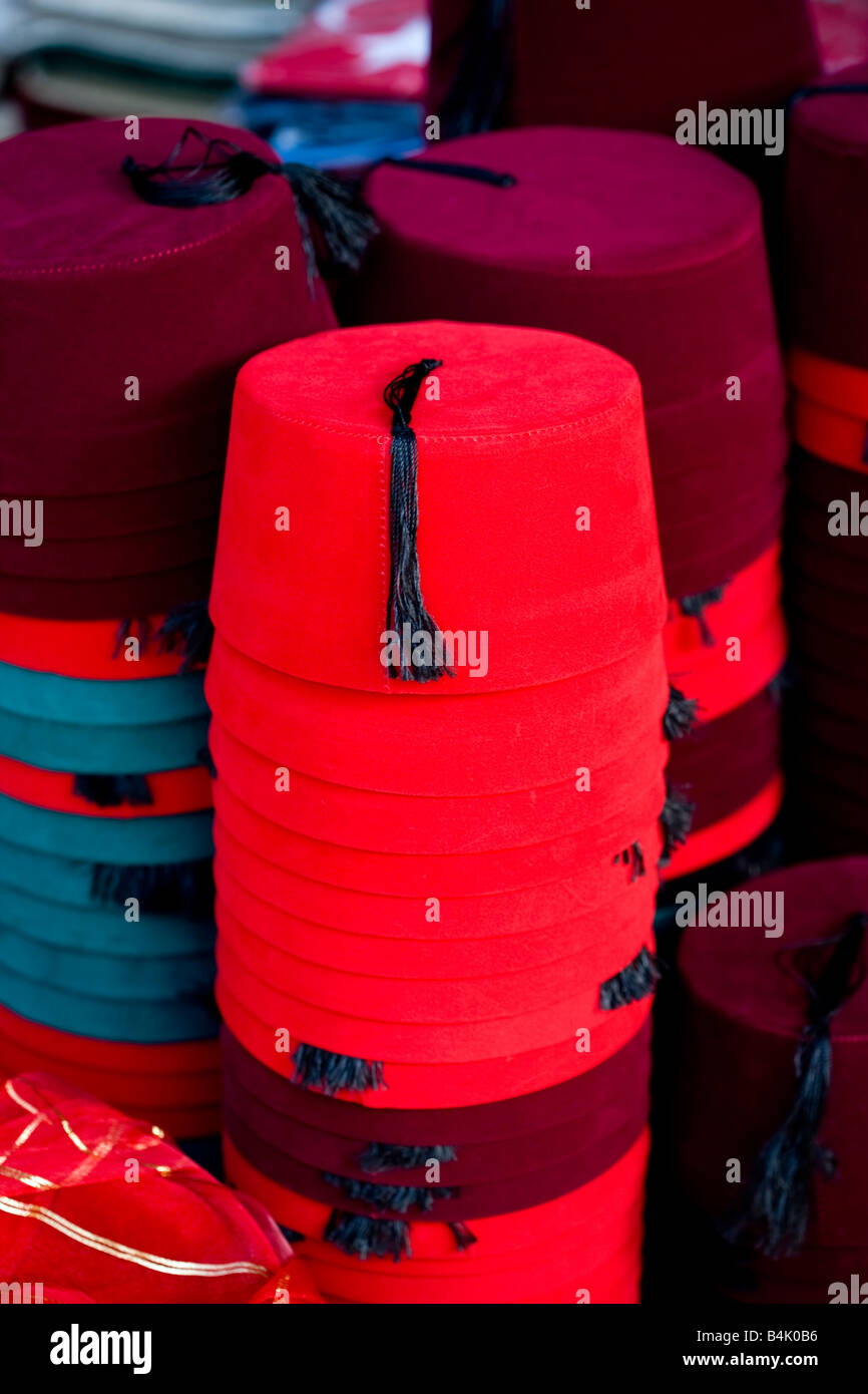 Fez on Sale Grand Bazaar Istanbul Stock Photo  20086394 - Alamy 8ed2b56de7d
