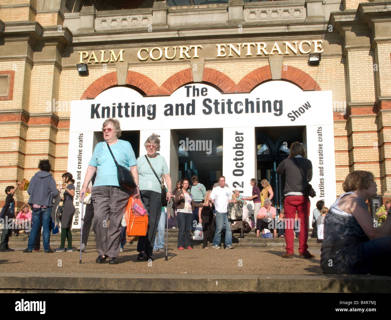 A craft fair (the Knitting and Stitching exhibition) at Alexandra Palace, London - Stock Image