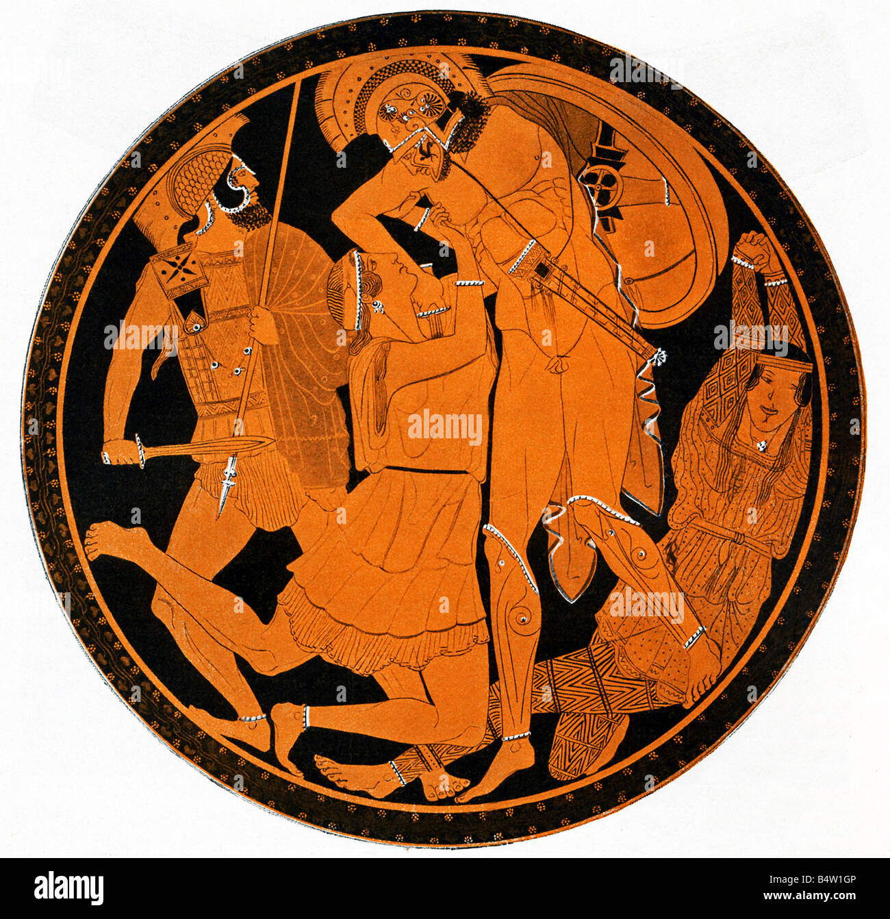 Penthesilea and Achilles Stock Photo