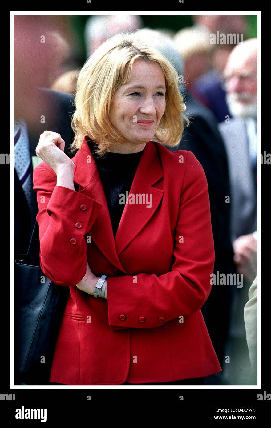 JK Rowling author of the Harry Potter books July 2000 at Holyrood Palace for the Duke of Edinburgh Awards - Stock Image