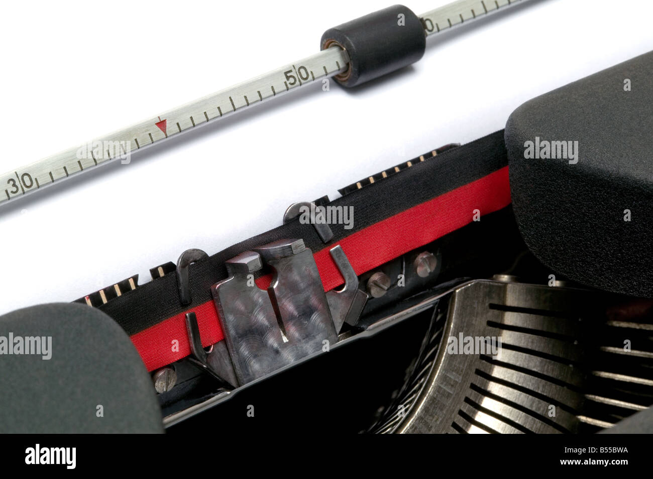 Typewriter close up at an angle - Stock Image