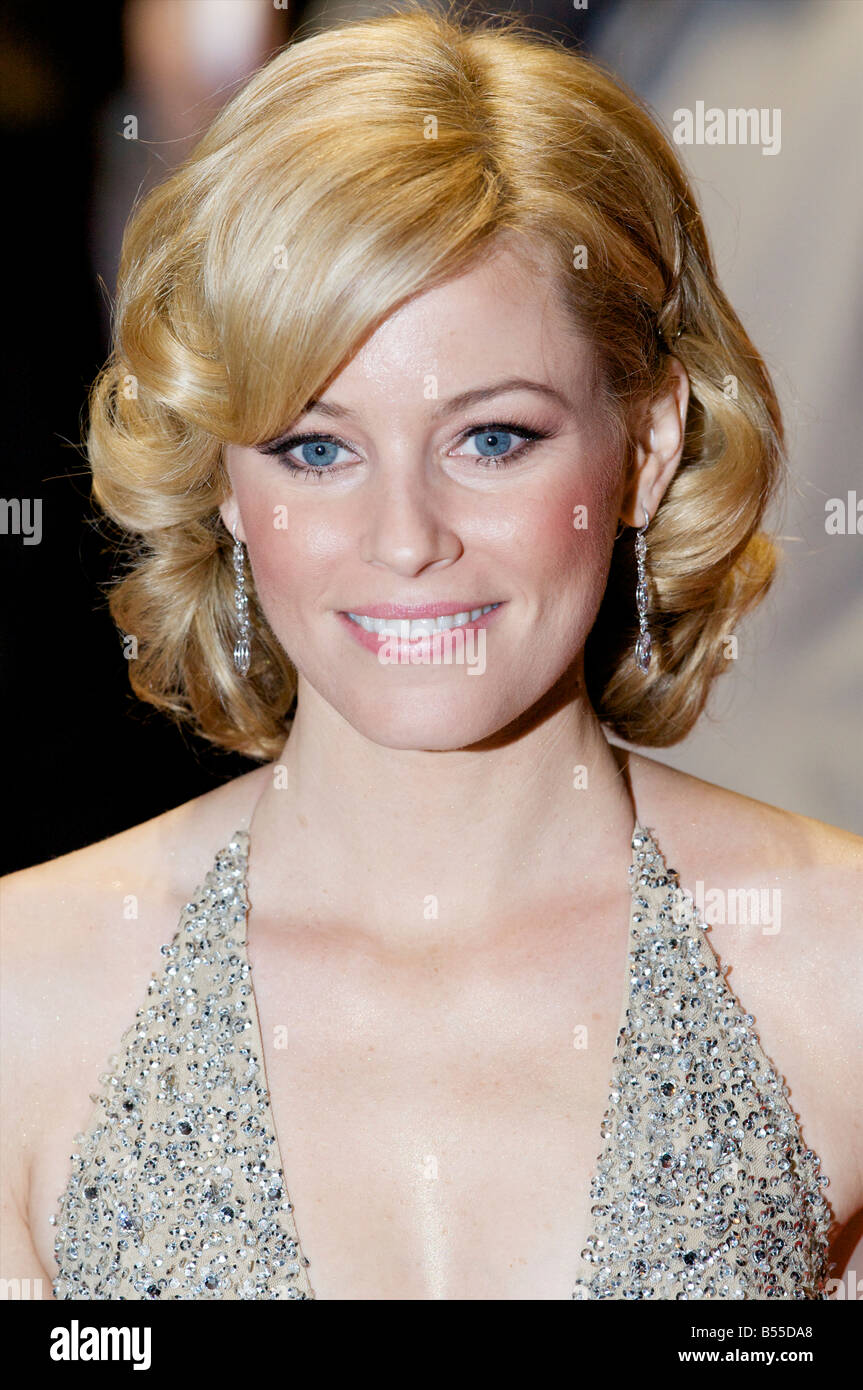 Elizabeth Banks Attending BFI 52 London Film Festival film W Red Carpet Odeon cinema Leicester Square London - Stock Image