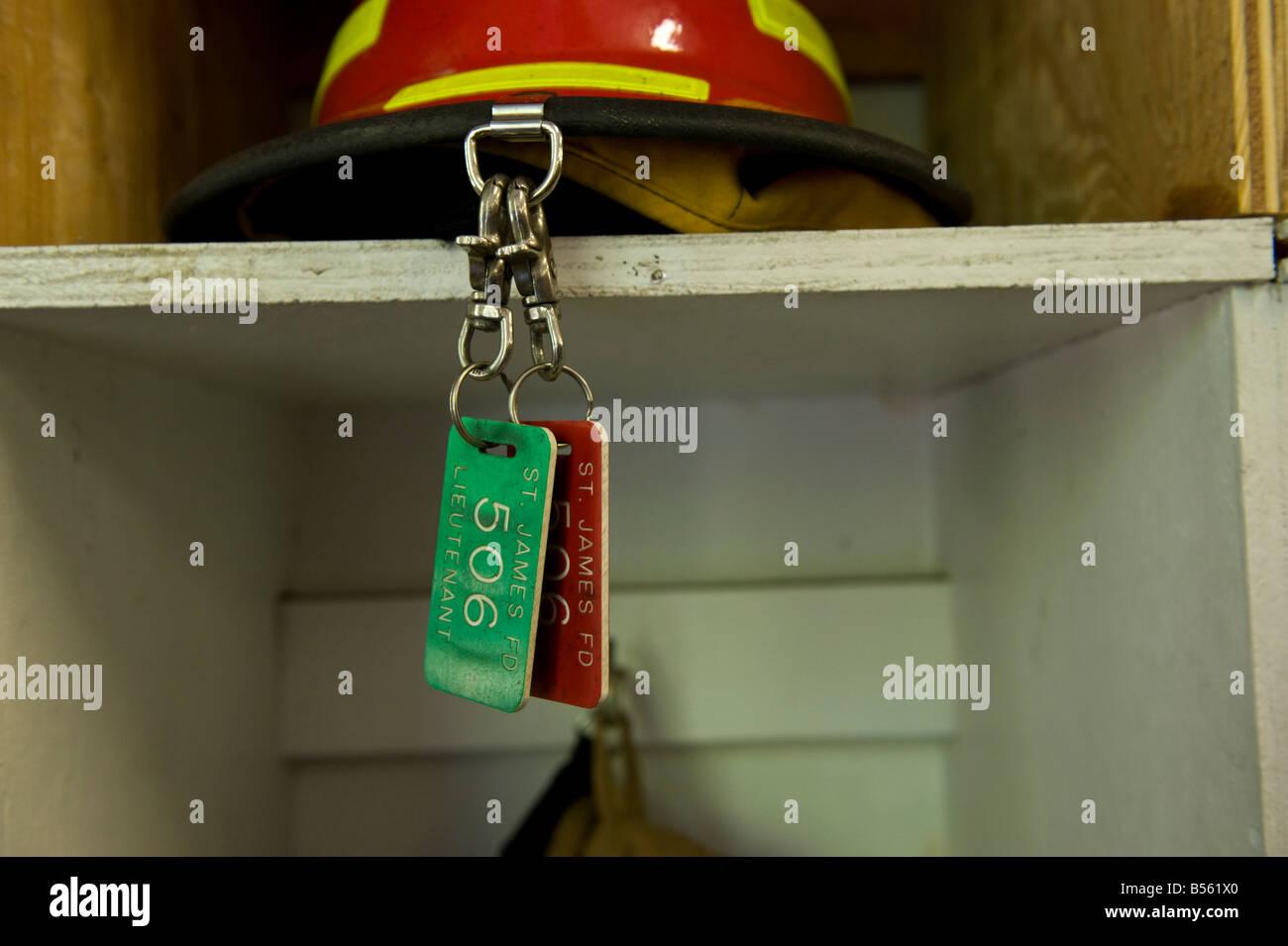 Firemen hardhat - Stock Image