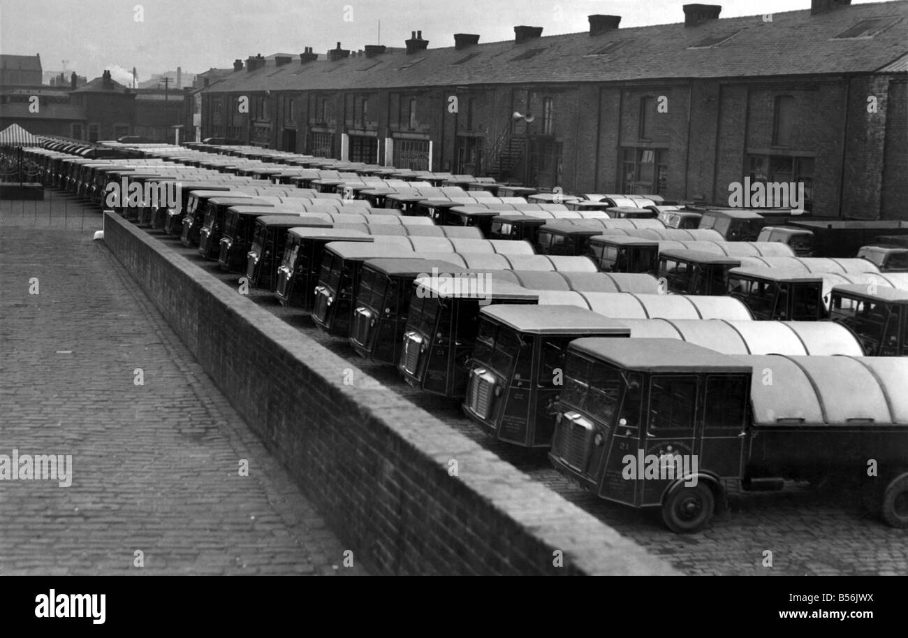 manchester cleansing depts fleet of vehicles muster 137 on parade for the annual inspection and prize giving in the water st depot - Muster Depot