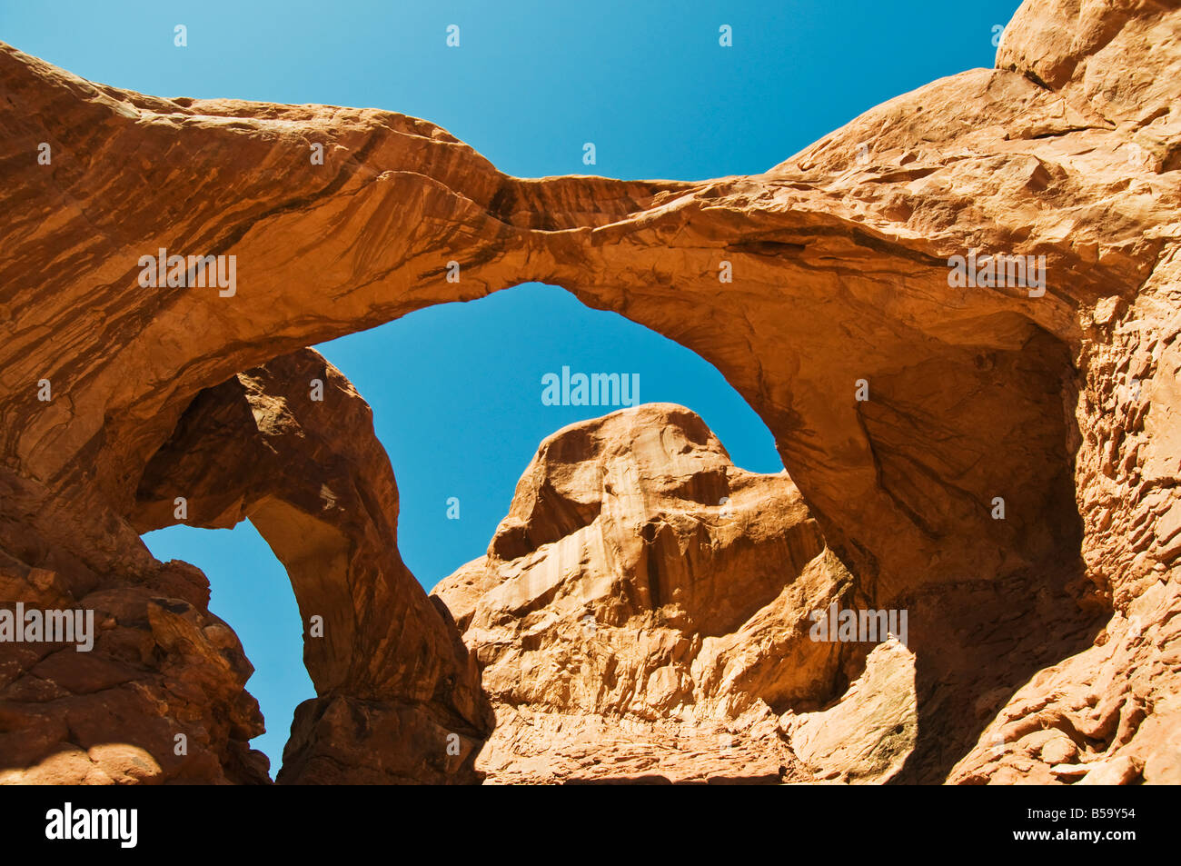 double O arch arches national park - Stock Image