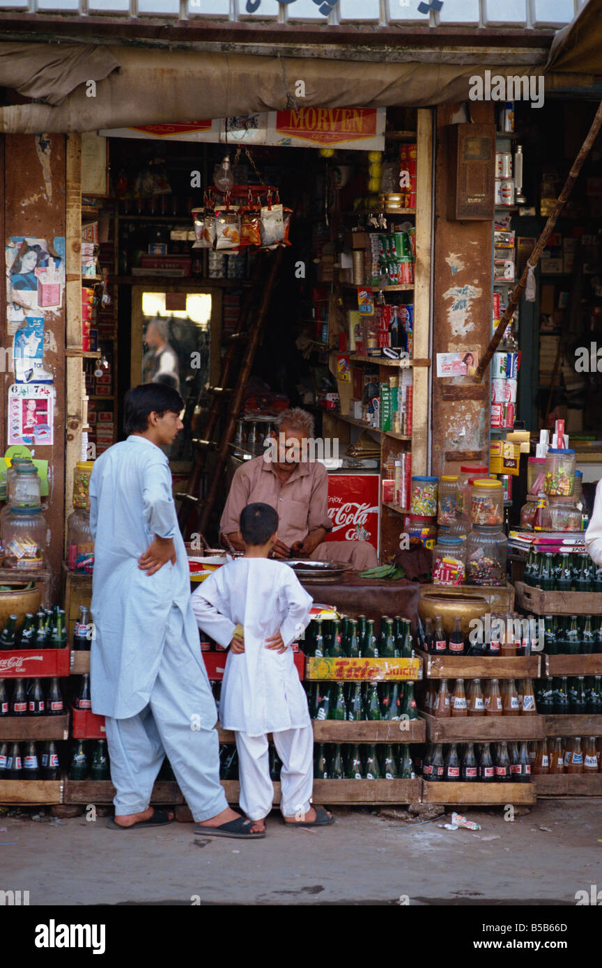 Two boys at a drinks stall in Abbottabad Pakistan Asia D C Poole - Stock Image