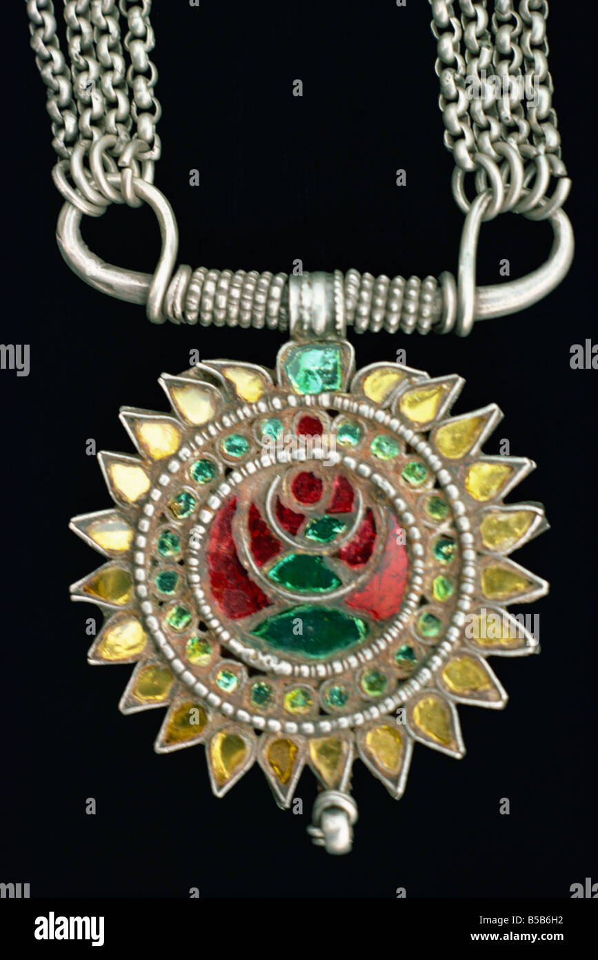 Rutlo pendant from Sind M C H Pakistan Asia - Stock Image