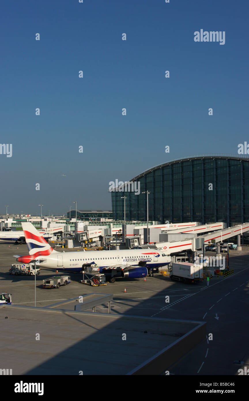 Heathrow Airport Terminal 5 in 2008, London, England, Europe - Stock Image