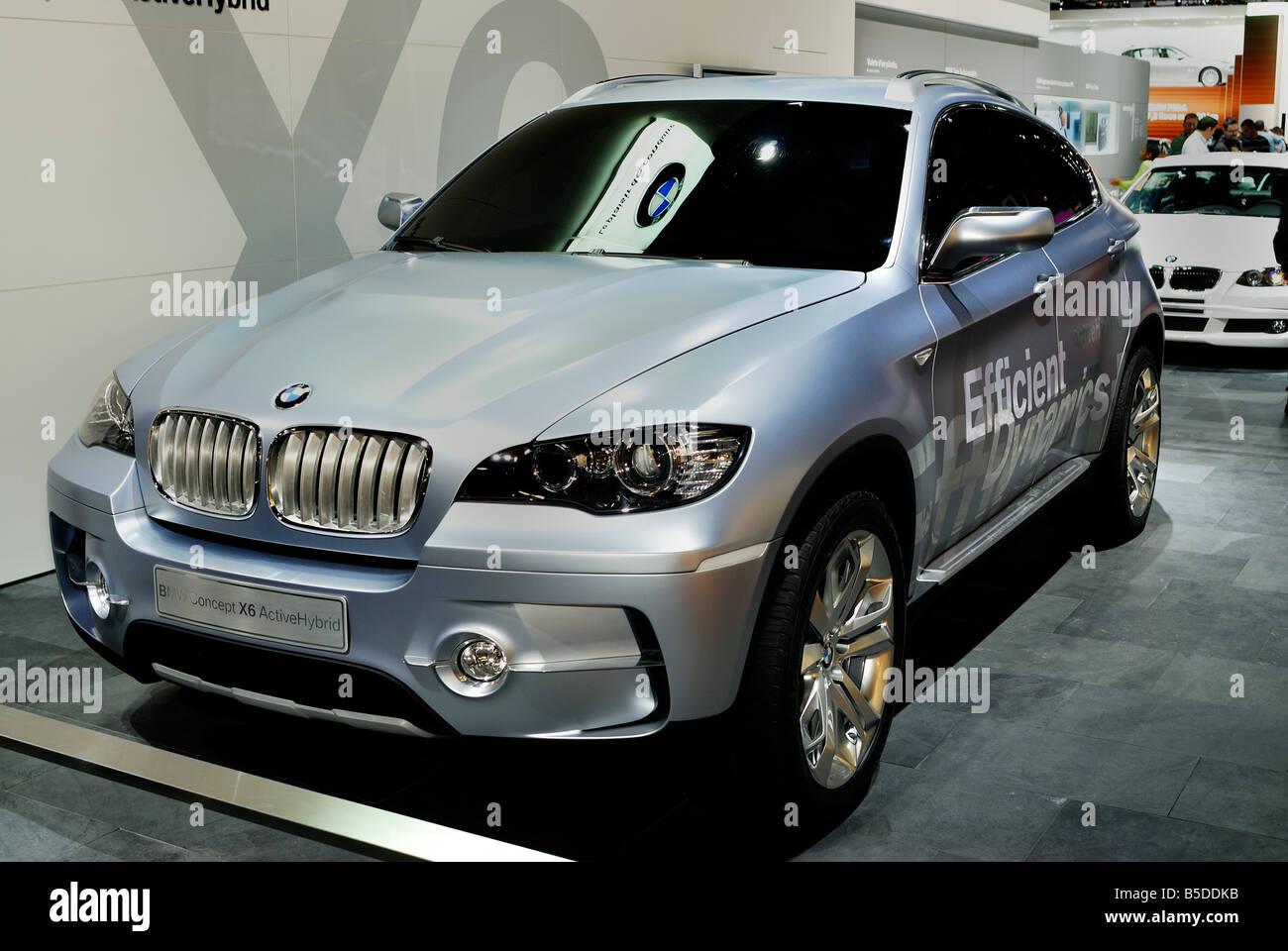 Paris France Low Carbon Cars Hybrid Motor Concept Car Bmw X6