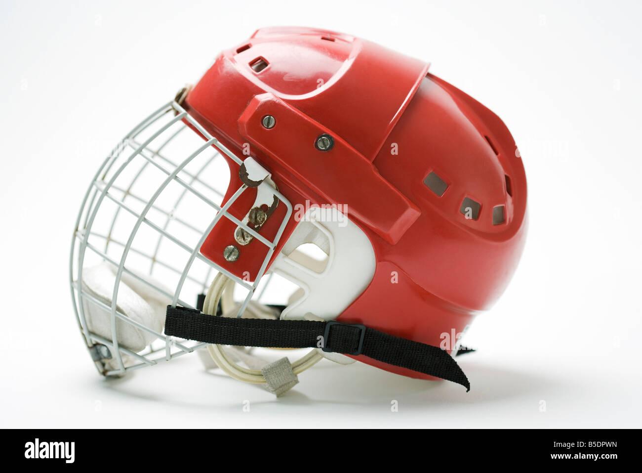 Hockey helmet, side view - Stock Image