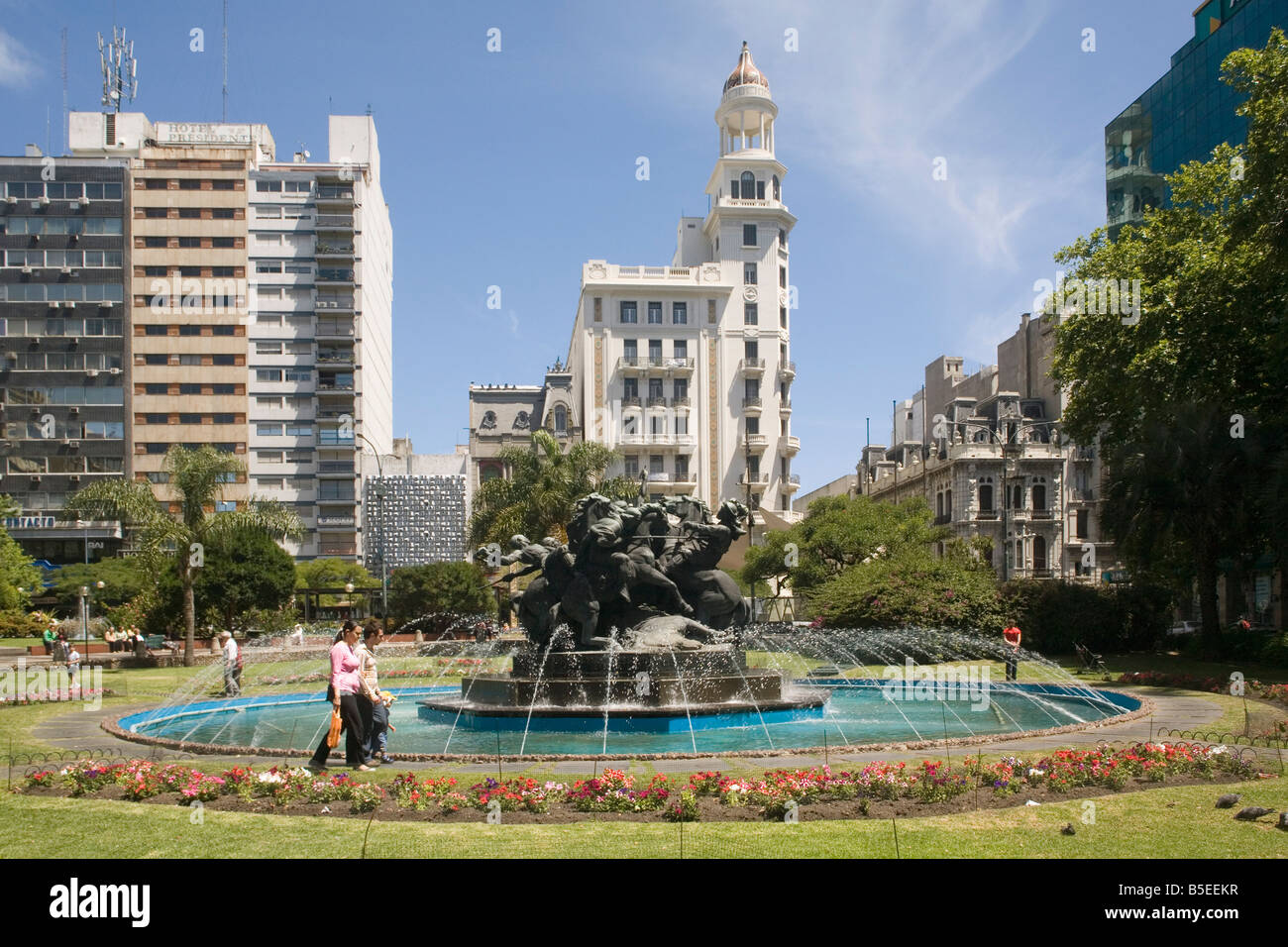 Plaza Fabini Montevideo Uruguay South America - Stock Image