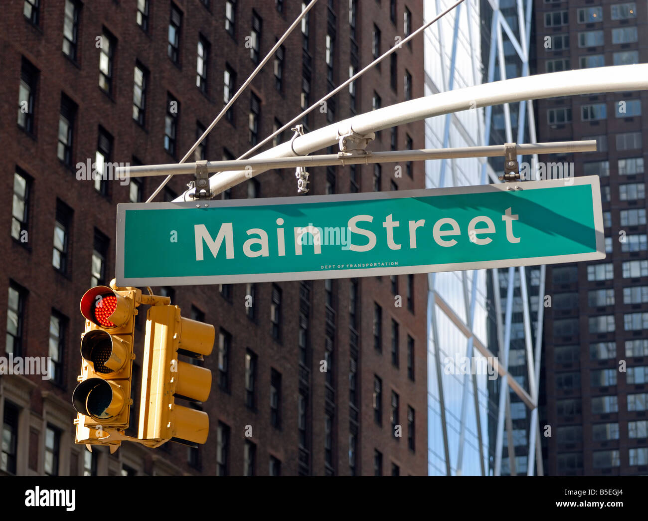 Main Street USA (as opposed to Wall Street) - Stock Image