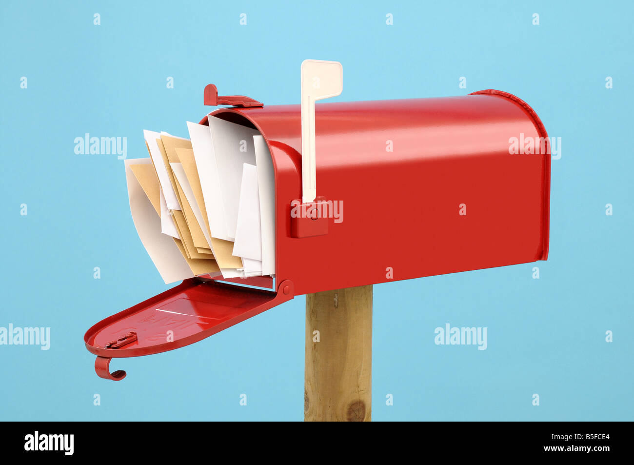 US Mailbox full of letters - Stock Image