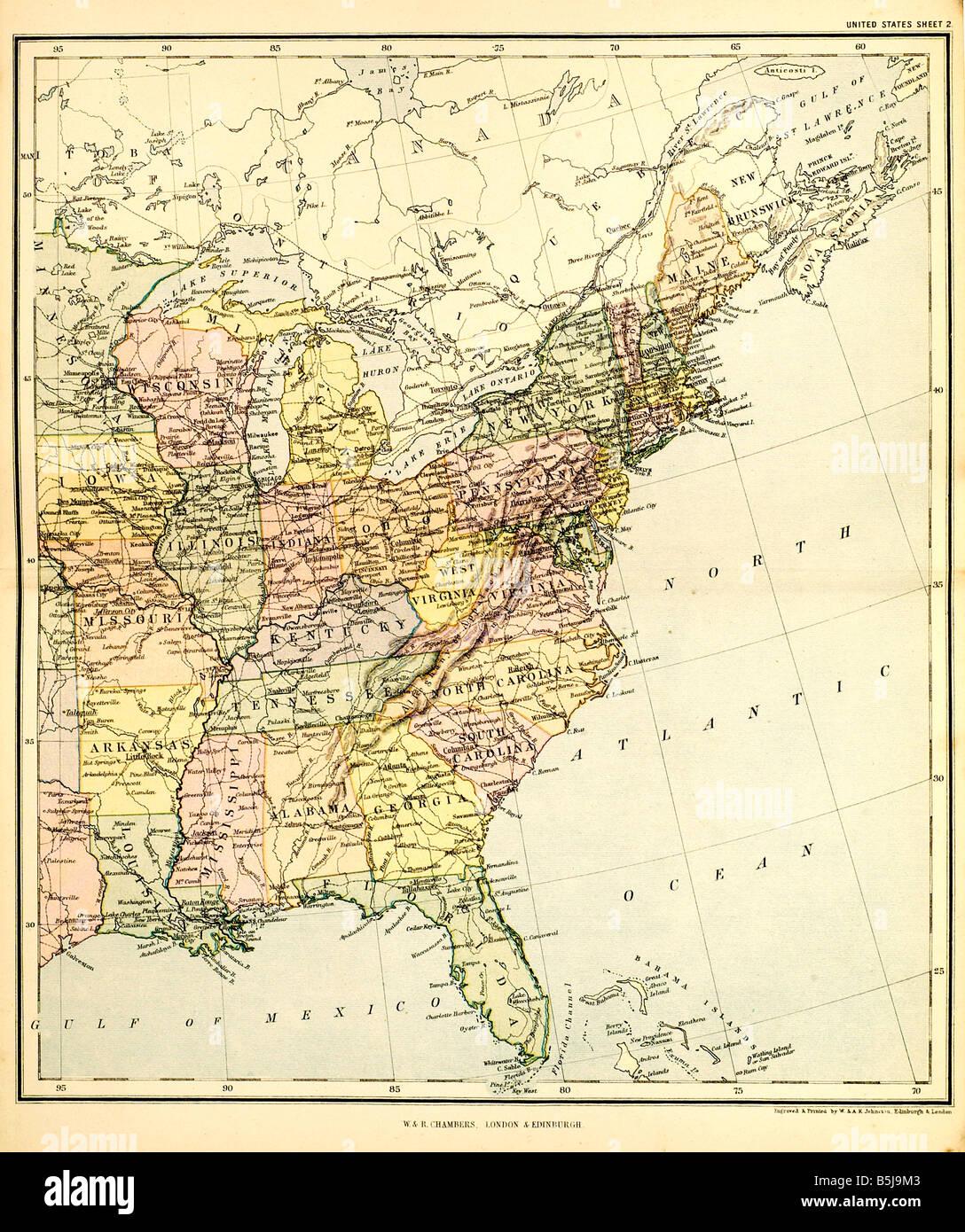 united states east map Eastern Seaboard Atlantic Ocean Washington ...