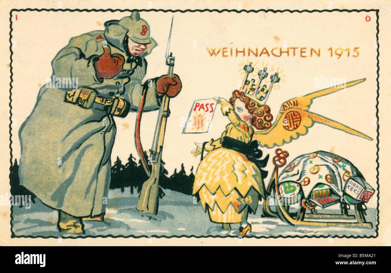 2 G55 P1 1915 12 Christmas 1915 Advert postcard WWI History World War I Propaganda Christmas 1915 Publicity postcard - Stock Image