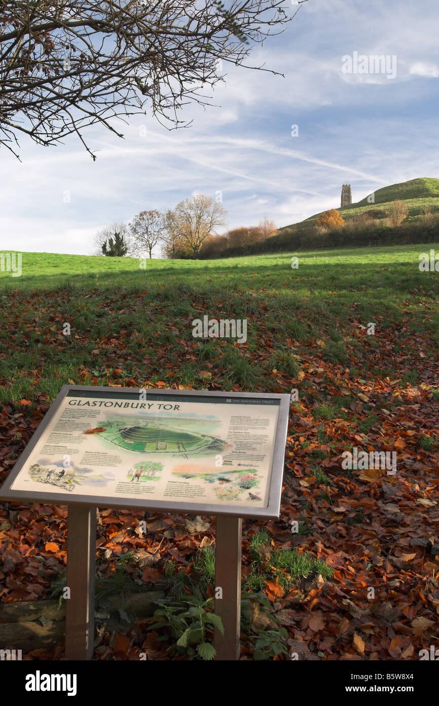 Glastonbury Tor, Somerset, England - Stock Image