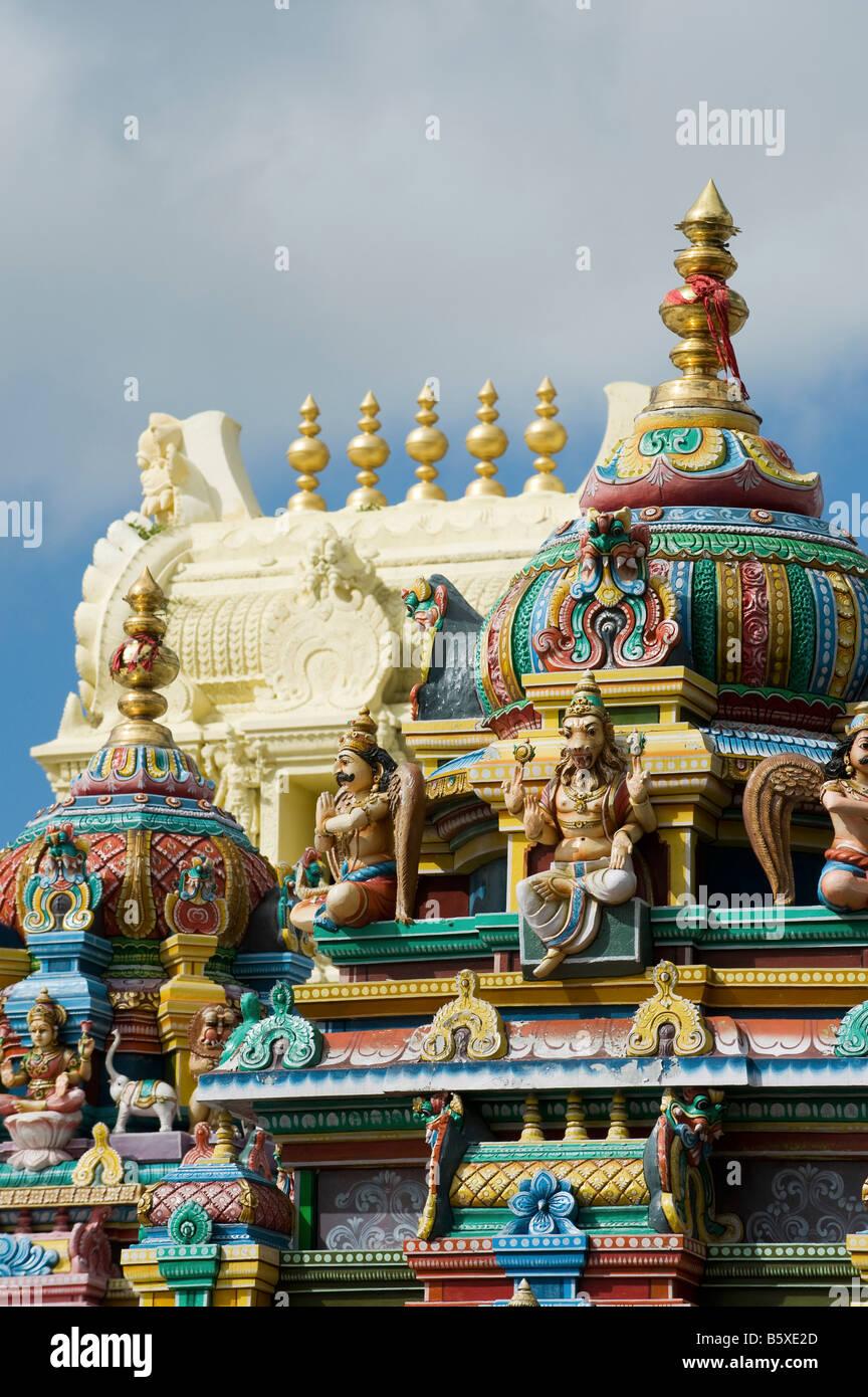 Hindu Deities Painted Statue On The Lord Lakshmi Narasimha Swamy