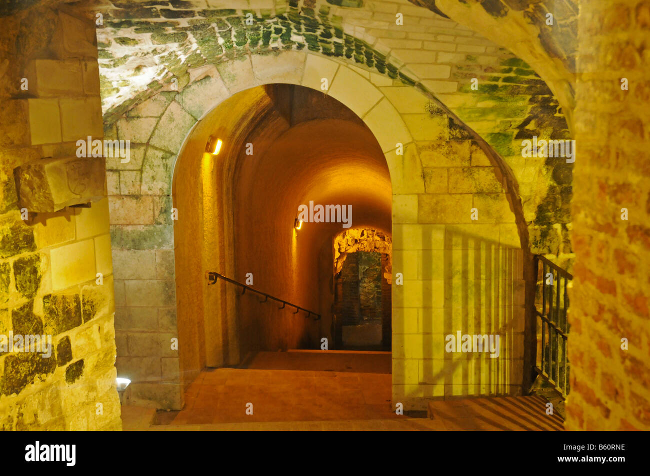 Entrance, Les Boves, underground passages, historic building, Arras, Nord Pas de Calais, France, EuropeStock Photo
