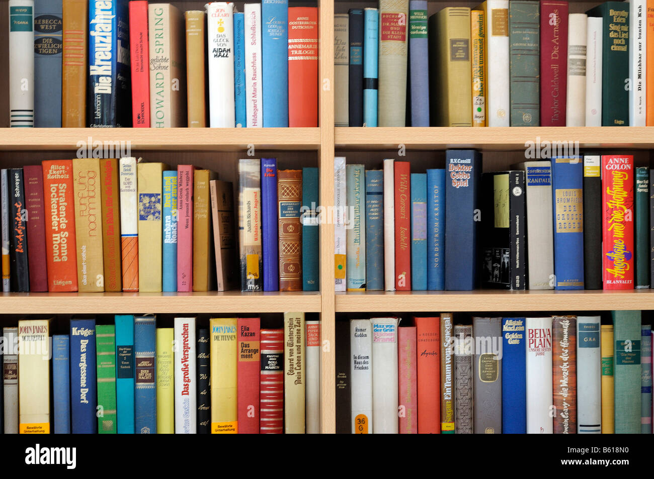 Bookshelf Filled With Books Stock Photo 20927116 Alamy