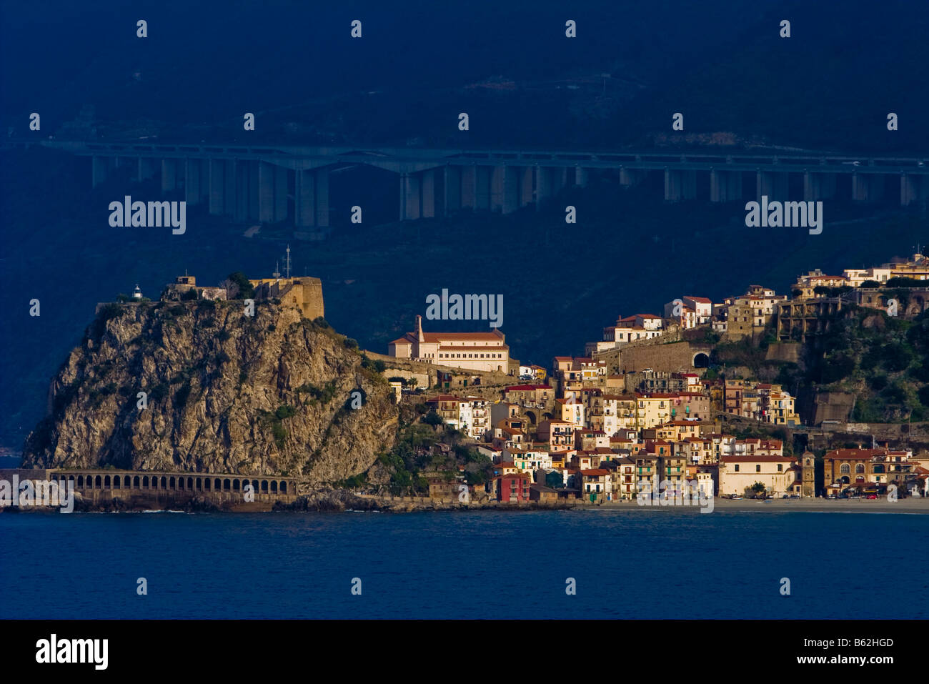 The town of Scilly in Calabria Italy Home to the mythic sea creature Scylla - Stock Image